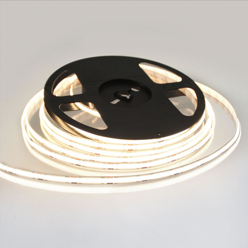 Pro Series Spot Free COB Continuous LED Tape, 24V, 10Wp/m 900LM, 90 CRI, Warm White 3000K, 5M reel