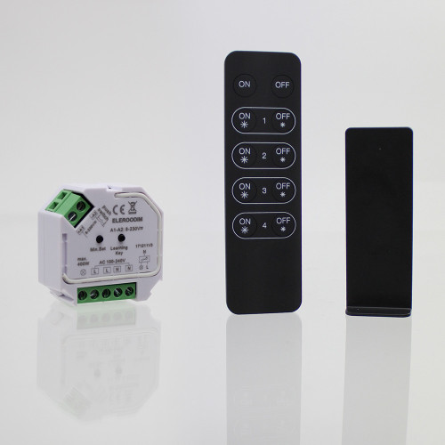 Elencho RF Controlled Mains Dimmer and Receiver Bundle, 400W Output