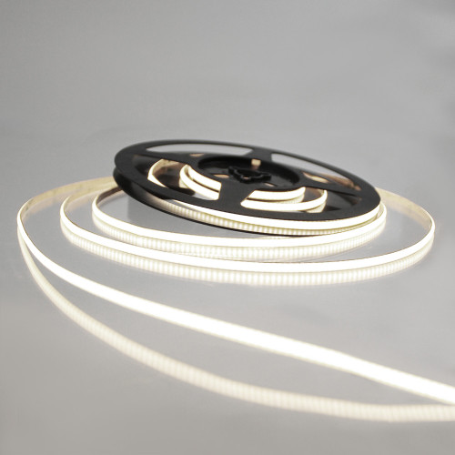 Pro Series Ultra Slimline Spot Free COB Continuous LED Tape, 24V, 10Wp/m 760LM, 90 CRI, Neutral White 4000K, 2.5M reel
