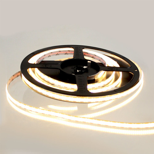 Pro Series Spot Free Mini Cut Point COB Continuous LED Tape, 12V, 9Wp/m 650LM, 90 CRI, Very Warm White 2700K, 2.5M reel