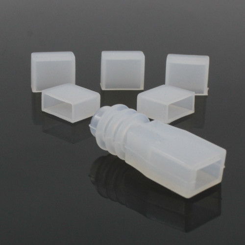 Silicone Endcaps for 8mm Wide COB LED Tape. 5 sets.