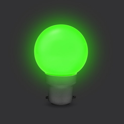 G45 Golf Ball Shape Shatterproof Festoon Lamp, RGB Colour Changing, B22