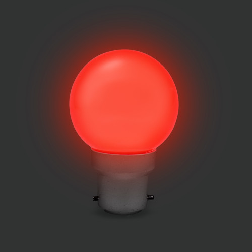 G45 Golf Ball Shape Shatterproof Festoon Lamp, RGB Colour Changing, B22