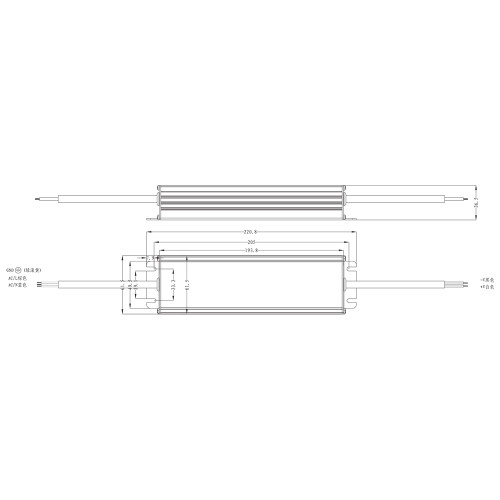 Premium Tagra® Professional IP67 Encased Power Supply for 24V LED Strip Lights - 250W 10.4A