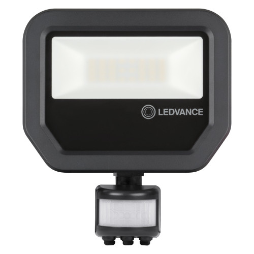 LEDVANCE 20W LED Floodlight - IP65 - With PIR - 2200Lm - 3000K