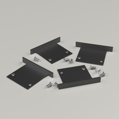 Set of 4 End Caps for 3535R5 Black, Includes 8 Screws