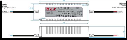 Professional IP67 24V Constant Voltage LED Driver 150W