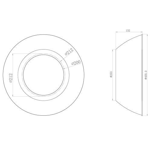 90° High Bay Reflector - Aluminium