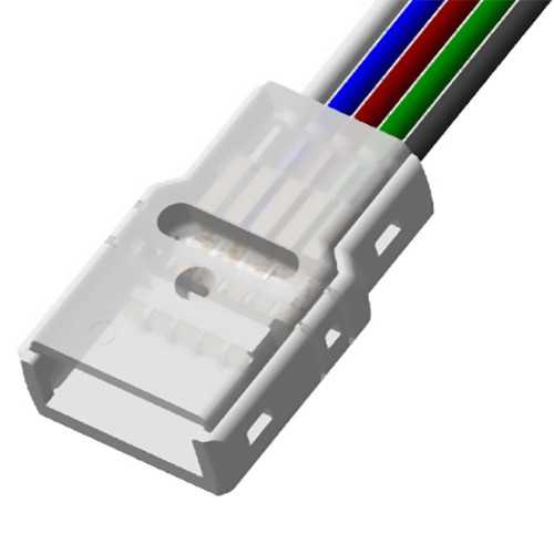 Solderless IP Tape To Wire Connector for 14mm 5 Core RGBW LED Tapes