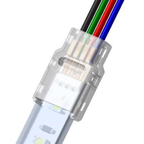 Solderless IP Tape To Wire Connector for 12mm 4 Core RGB LED Tapes