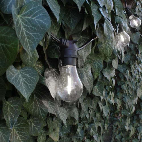 GLS Shape Shatterproof Clear Filament Festoon Lamp, Cool White 6000K, B22