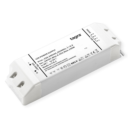 Tagra® Professional 24V TRIAC Dimmable Constant Voltage LED Driver 150W