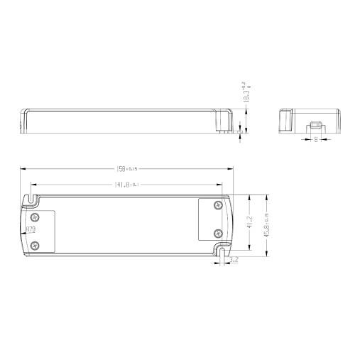 24V Slim TRIAC Dimmable LED Driver, 30W 1.25A-2