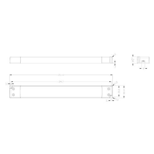 Tagra® Super Slimline Linear Professional 12V Constant Voltage LED Driver 45W