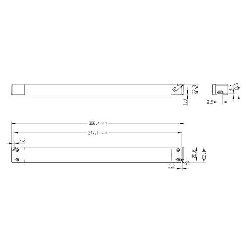 Tagra® Slimline Professional 24V Constant Voltage LED Driver 200W