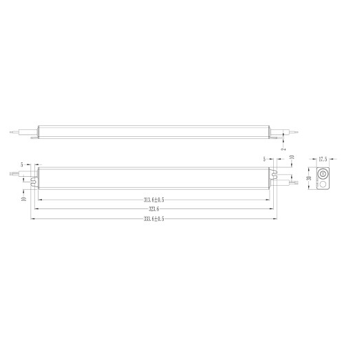 Tagra® Slimline Professional 12V Constant Voltage LED Driver 60W