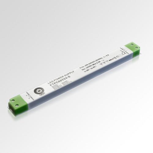 Super Slimline Linear Professional 24V Constant Voltage LED Driver 60W