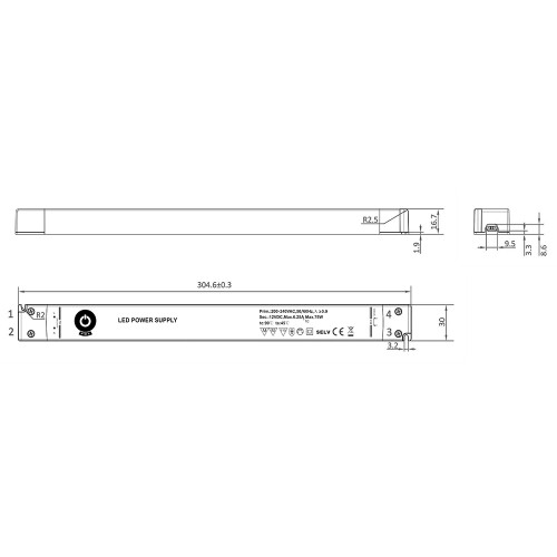 Super Slimline Linear Professional 12V Constant Voltage LED Driver 75W
