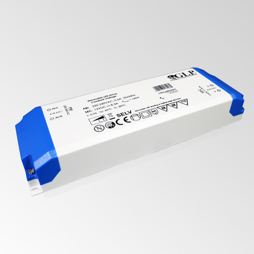 12V Slim TRIAC Dimmable LED Driver, 100W 8.3A