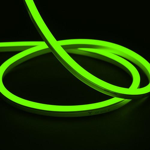 Essential Mini LED Neon Flex , 10x15mm, Horizontal Bend, Green, 50 Metre Reel