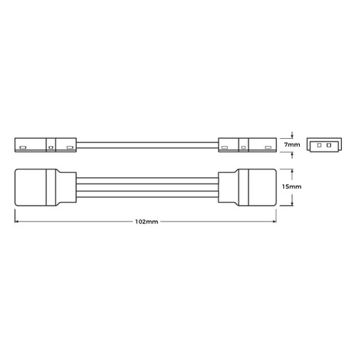 LEDVANCE LED Tape to Tape connector for IP66 tape, Pack of 2