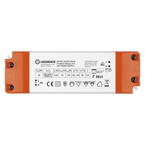 LEDVANCE 24V Constant Voltage LED Driver 30W, IP20