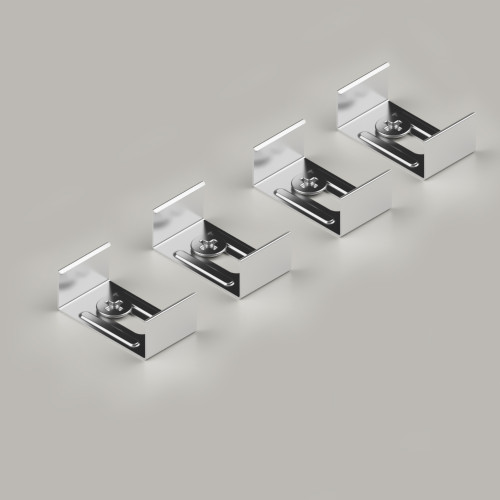 Set of 4 Mounting Brackets for 17.11 x 14.5mm Deep Aluminium Channel