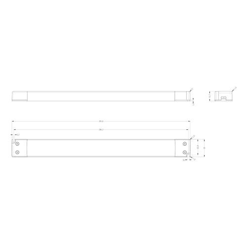 Tagra® Super Slimline Linear Professional 12V Constant Voltage LED Driver 60W