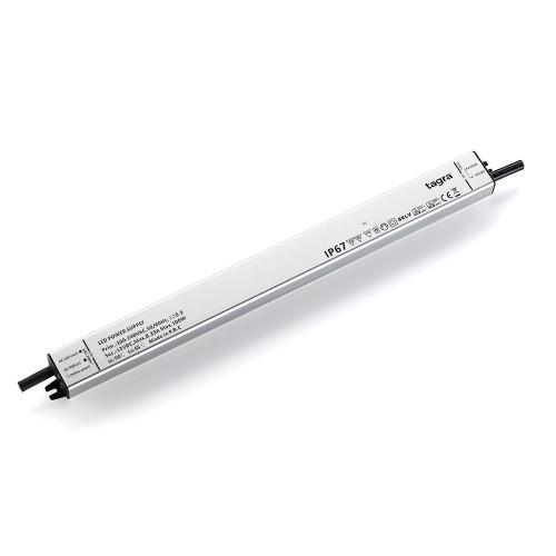 Tagra® Super Slimline Linear Professional 12V Constant Voltage LED Driver 100W, IP67