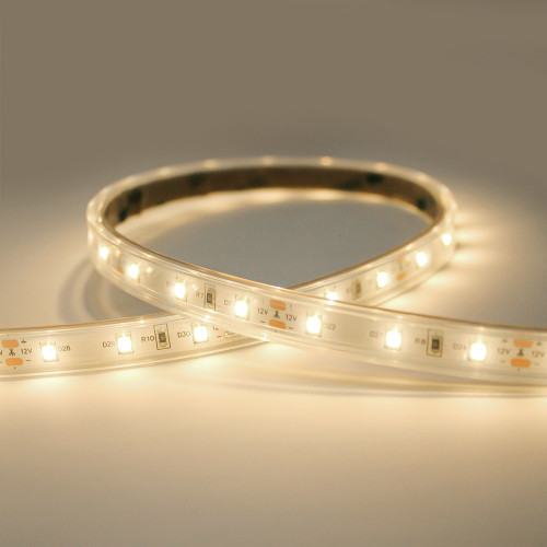 12V Syndeo Plug and Play 60 LEDs 4.8w p/m LED Tape, Warm White 3000K, IP65 (5m Reel)