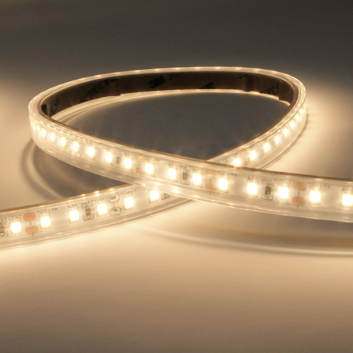 12V Syndeo Plug and Play 120 LEDs 9.6w p/m LED Tape, Warm White 3000K IP65 (5m Reel)