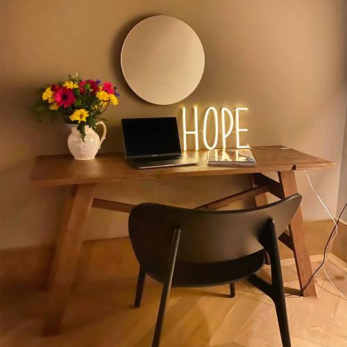 Hope Neon Sign, Warm White
