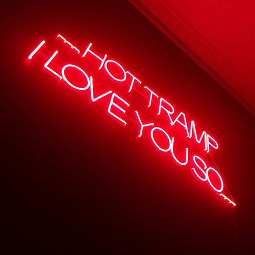 Hot Tramp Neon Sign, Red