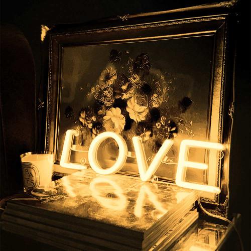 LOVE Neon Sign Warm White