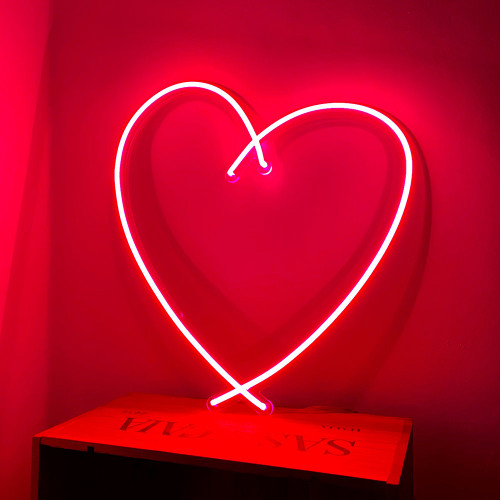 Sketch Neon Heart, Red