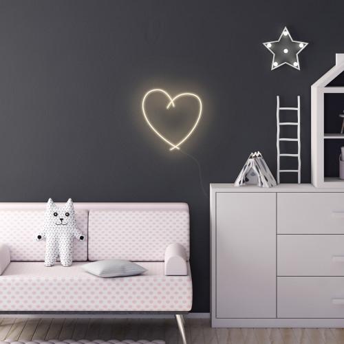 Sketch Neon Heart, Warm White