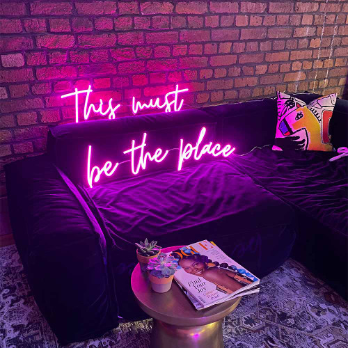 This Must Be The Place LED Neon Sign
