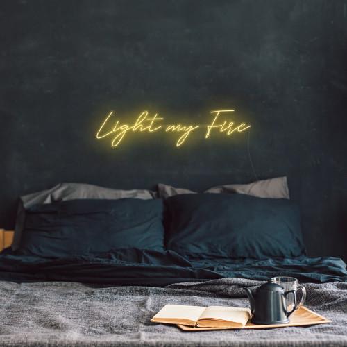Light My Fire LED Neon Sign, Golden Yellow