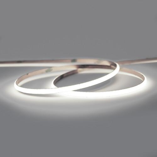 24V Professional Micro Width COB Continuous LED 10w p/m 6500K CRI>90, 2.5 Metre Reel