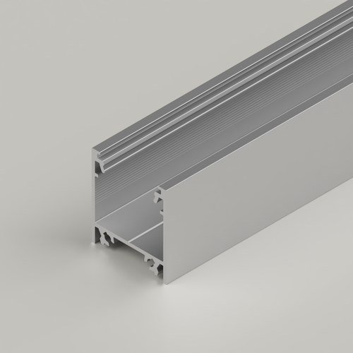 Surface Mounted Connectable Aluminium Channel 23x25mm, Silver, 3 Metres
