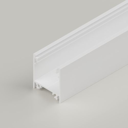 Surface Mounted Connectable Aluminium Channel 23x25mm, White, 3 Metres