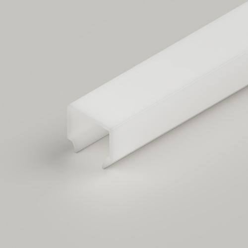 Box Click in Diffuser, 2 Metre Length, Semi Clear