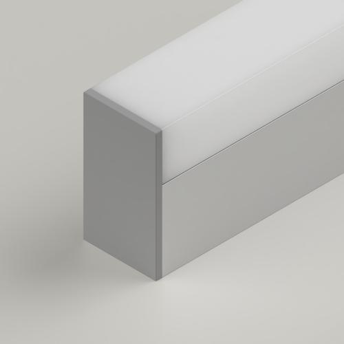 Box Click in Diffuser, 3 Metre Length, Semi Clear