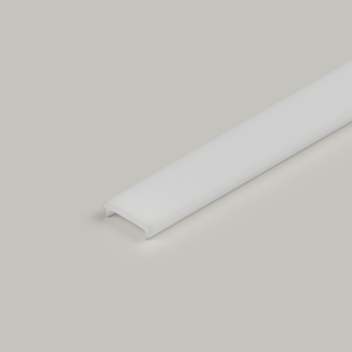 Click in Diffuser for 23x25mm Connectable Aluminium Channel, 2 Metre, Frosted
