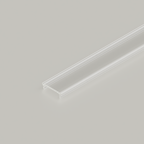 Click in Diffuser for 23x25mm Connectable Aluminium Channel, 3 Metre, Clear