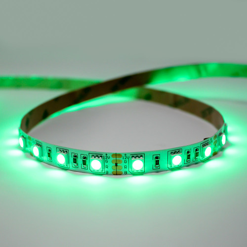 12V Essential Toning Series LED Strip, 60 LEDs, 14.4w Per Metre, RGB Colour Changing, 50 Metre Reel, IP20