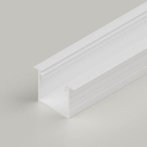 Recessed Connectable Aluminium Channel 23x20m, White, 2 Metres