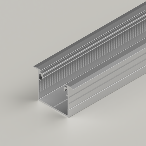 Recessed Connectable Aluminium Channel 23x20mm, Silver, 3 Metres