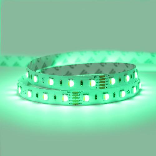 24V Professional Toning Series LED Tape, RGB+2700K, CRI >90, 60 LEDs p/m, 19.2w p/m, 5 Metre Reel