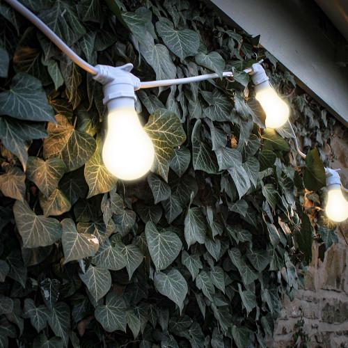 50 metre, 50 GLS Lamp Festoon String, 1000mm Spacing with 50 bulbs, B22, Warm White5